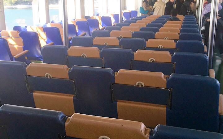 第三仁王丸の座席の写真