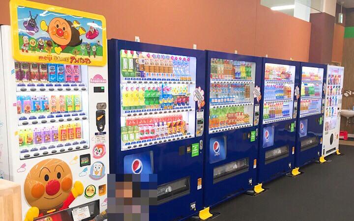 自動販売機が並んでいる写真
