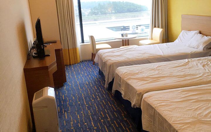 東京ベイ東急ホテルのトリプルルーム