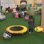 イオン相模原店のキッズスペース  「ナムコランド」では子供がのびのび遊べる