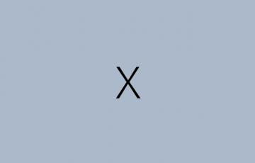 被写体「x」と背景がグレーの画像