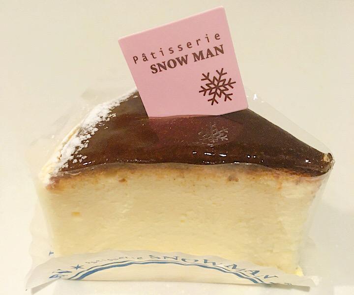 スノーマンのチーズケーキ