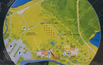 水の森公園のマップ
