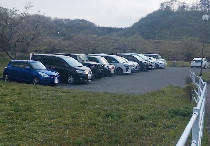 榎川砂防公園の駐車場