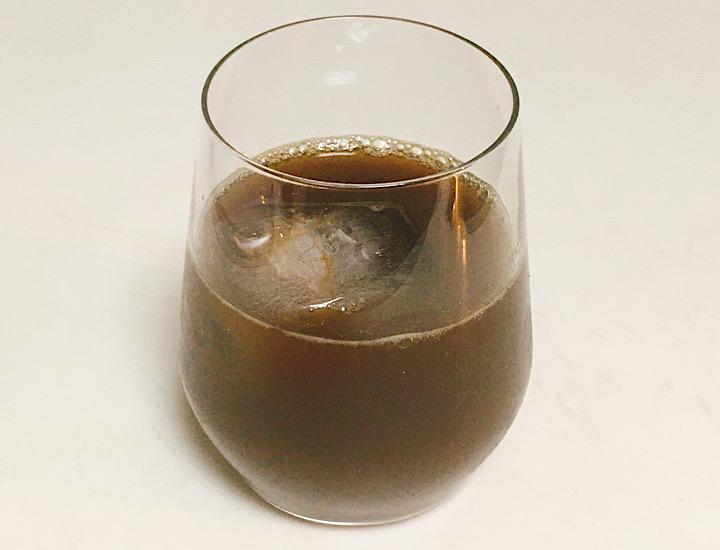 完成したアイスコーヒー