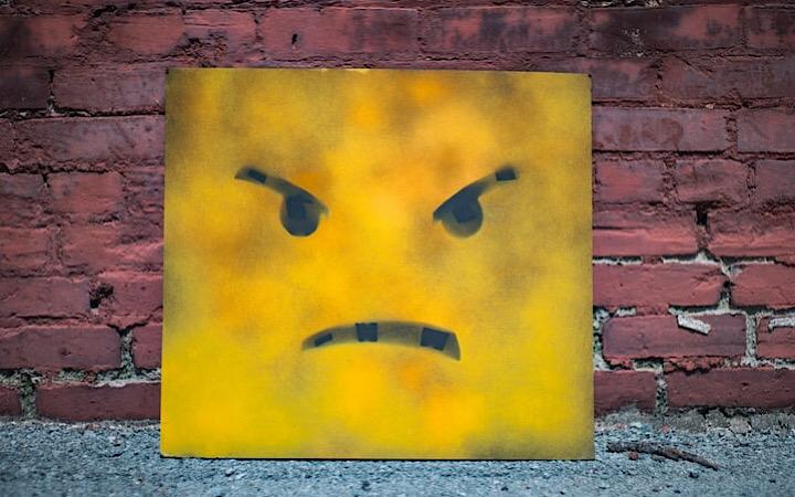 怒りを表している表情