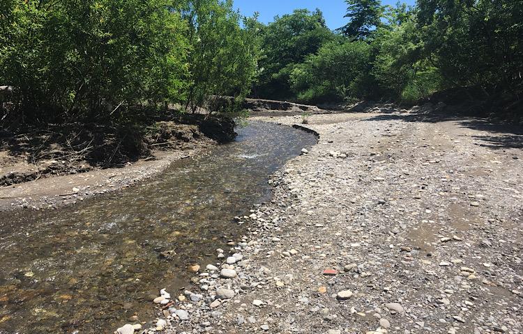 蛇石せせらぎ公園の川